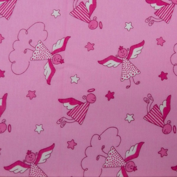 Schutzengel, pink, Flanell