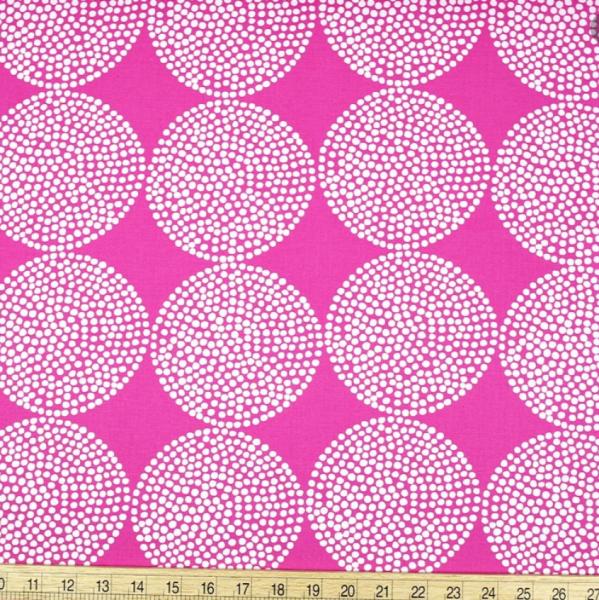 KOKKA Big Wheels pink Baumwoll-Canvas