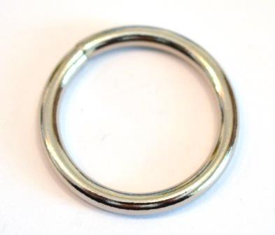 Geschweißter Eisenring, 25 mm, silber