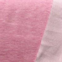 Tender Kiss, Bio-Doubleface Strickstoff rosa-meliert/weiß