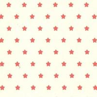 Laminat, Sterne rot auf beige, *SALE*