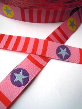Stars 'n Stripes, rosa, Webband