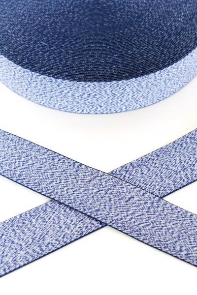 Gummiband breit, blau meliert