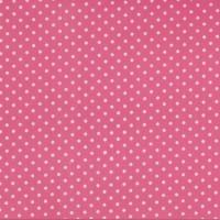 Alex, beschichtete Baumwolle, kleine Pünktchen weiß auf pink