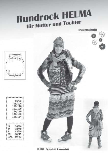 HELMA, Rundrock für Mutter und Tochter, FM-Schnittmuster *SALE*