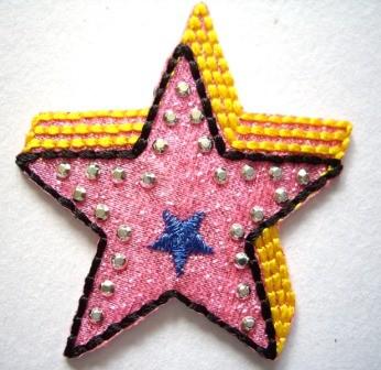 Applikation Stern, pink