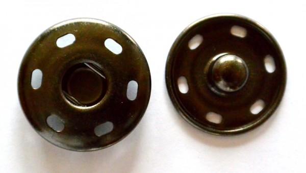 Annähdruckknopf, schwarz