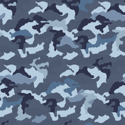 Camouflage blau, Jersey