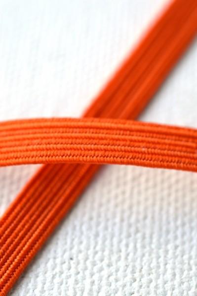 Flachgummi, orange, 6,5 mm