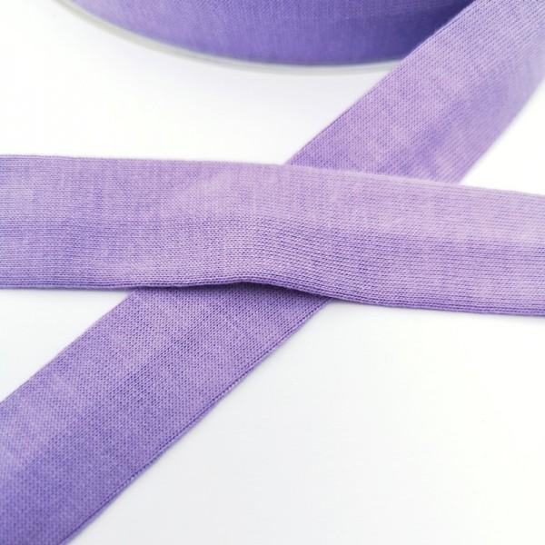 Baumwolljersey-Schrägband ohne Elasthan, violett