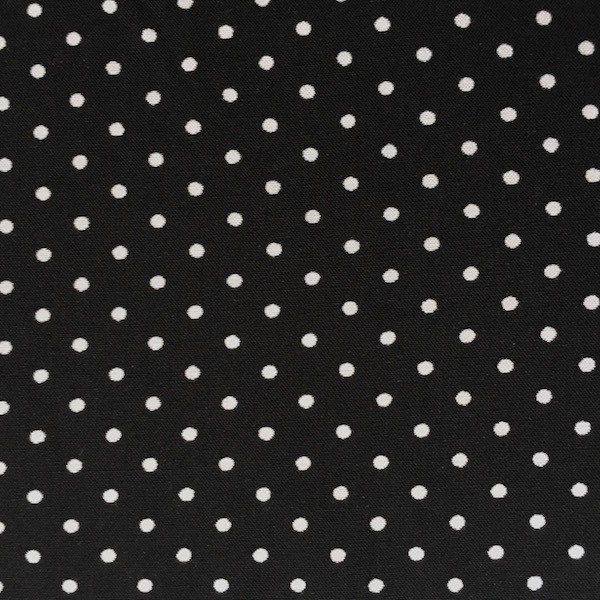 Viskosewebstoff Pünktchen weiß auf schwarz