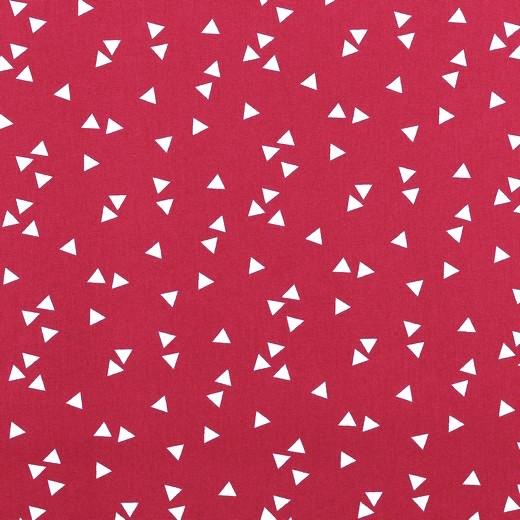 Lili Triangels, weiß auf pink, Webstoff, waschbar bei 60°