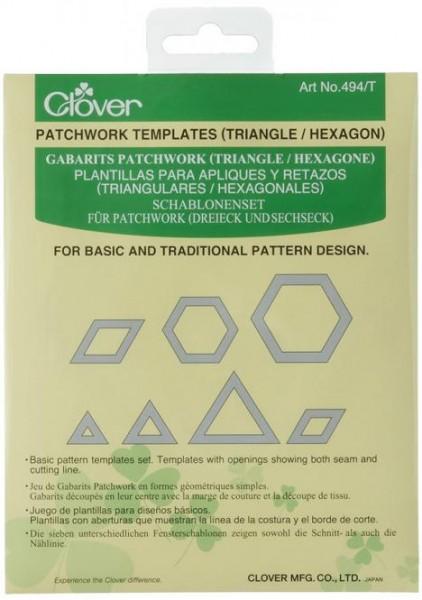 CLOVER Schablonen (Triangle/Hexagon)
