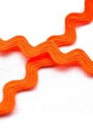 Zackenlitze 8 mm, neonorange