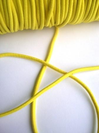 Gummischnur, 3 mm, gelb