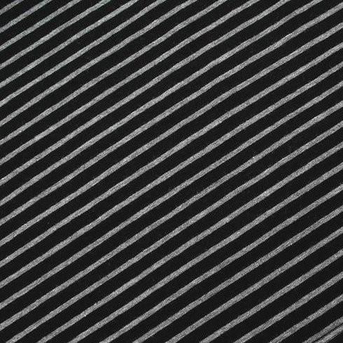 Franzi, Streifen grau-meliert auf schwarz, Jersey