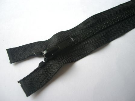 Reißverschluss, teilbar, schwarz