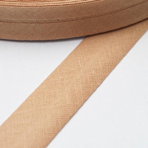 Schrägband, 20 mm, hellbraun