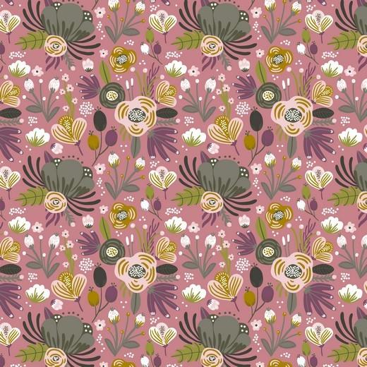 Bio-Jersey, Flower Bouquet, altrosa