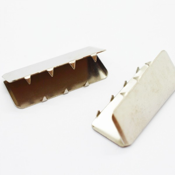 Gürtelendstück, 2,5 cm, nickel