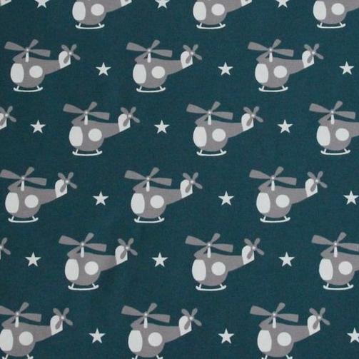 Hubschrauber petrol, Sweat, *Letztes Stück ca. 100 cm*