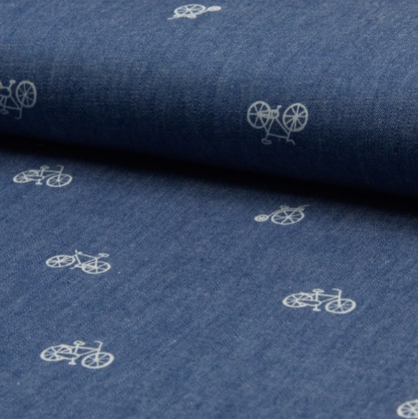 Sommerjeans Chambray Fahrrad