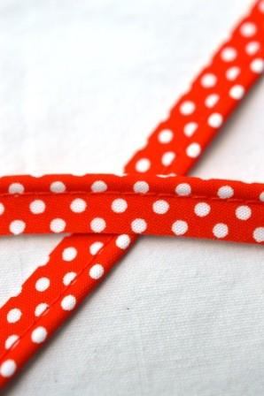 Paspelband, gepunktet, orange