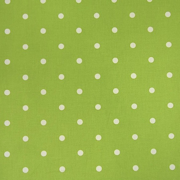 Dekostoff Dotty lime, Tupfen hellgrün