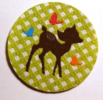 Applikation Bambi, grün