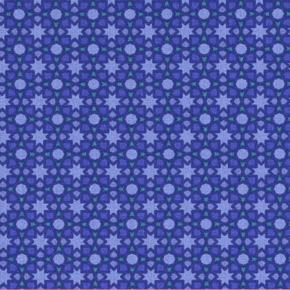 Lina kleine Sternchen auf blau, Webstoff