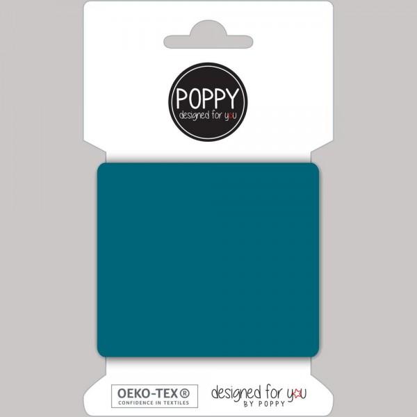 Poppy, Strickbündchen petrol, 135 cm