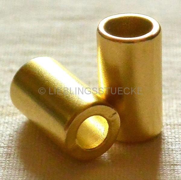 Kordelende, gold, zylindrisch