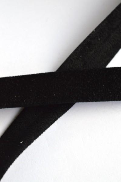 Einfassband Velourleder-Imitat, schwarz