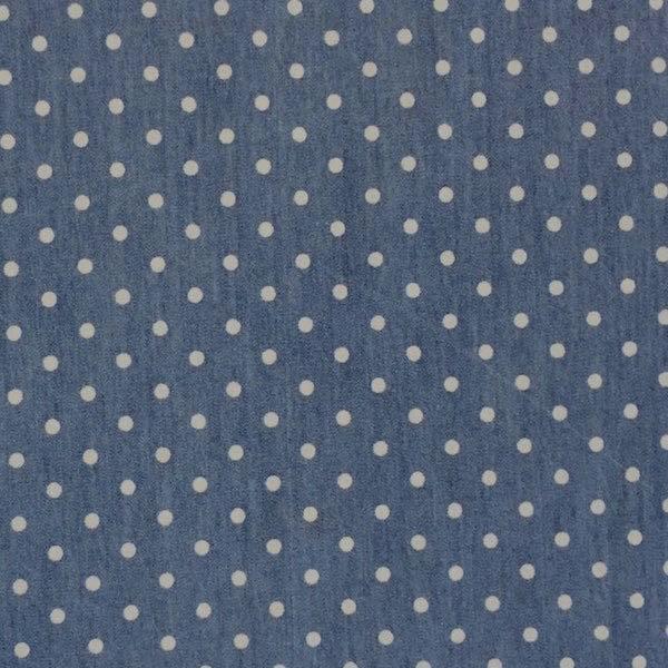 Sommerjeans dunkelblau mit Pünktchen