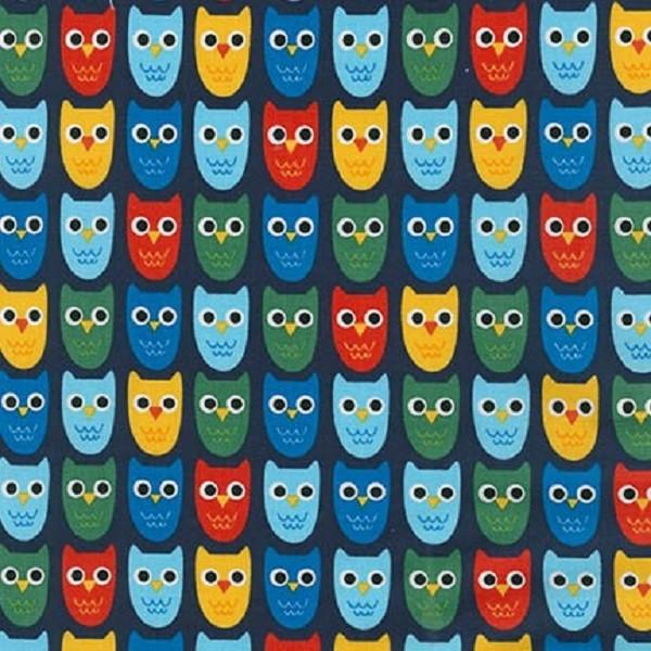 R. Kaufman, Eulen auf dunkelblau