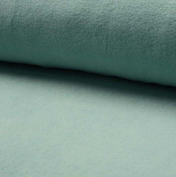 Baumwollfleece dunkles mint