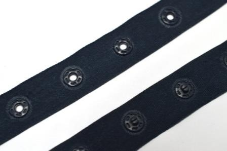 Druckknopfband, dunkelblau