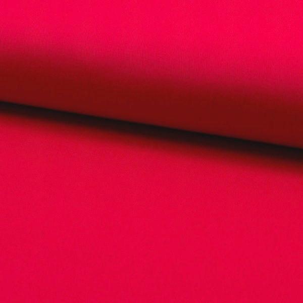 Fester Baumwollstoff/Köper, leicht elastisch, rot