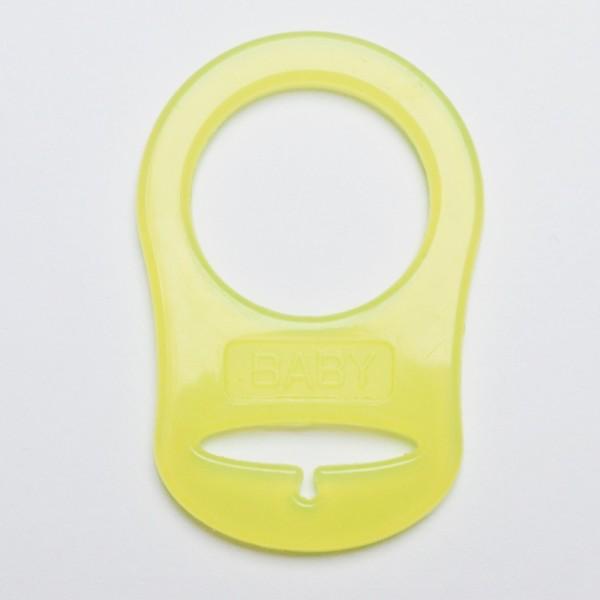 Silikonring für Schnuller, gelb