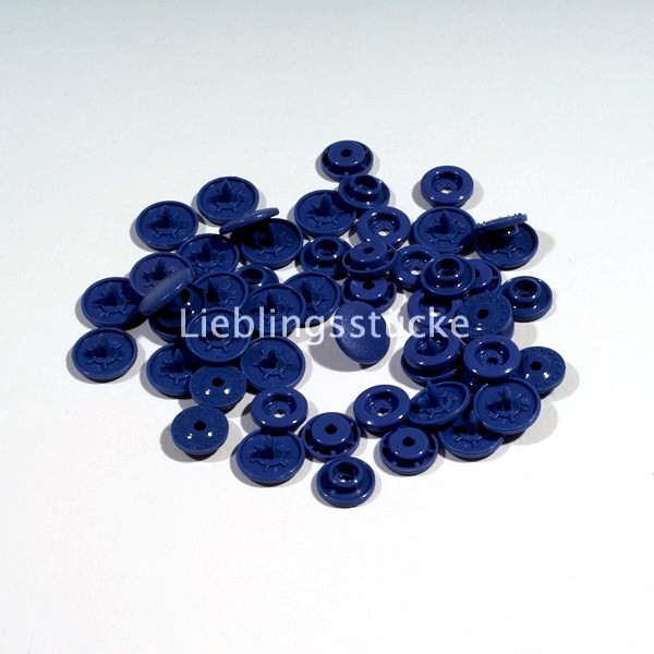 KAM Snaps, 10 Stück Packung, Mittelblau - 32