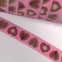 Alpenliebe, pink, Webband