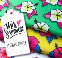 This Summer, Flower Power gelb, Bio-Jersey