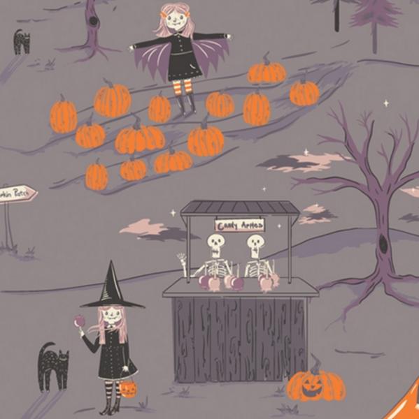 Art Gallerys Spooky'n Sweet Hexen grau, Baumwollstoff