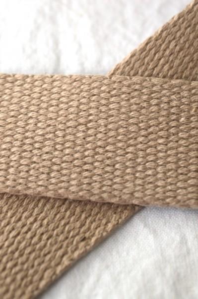 Baumwollgurtband, beige, 2,5 cm
