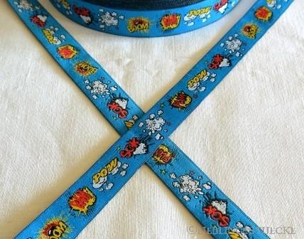 Pum Pow!, blau, Webband