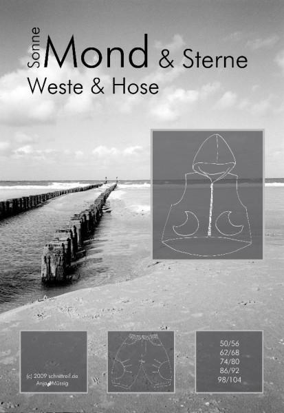 SONNE, MOND & Sterne, Weste & Hose, FM-Schnittmuster *SALE*