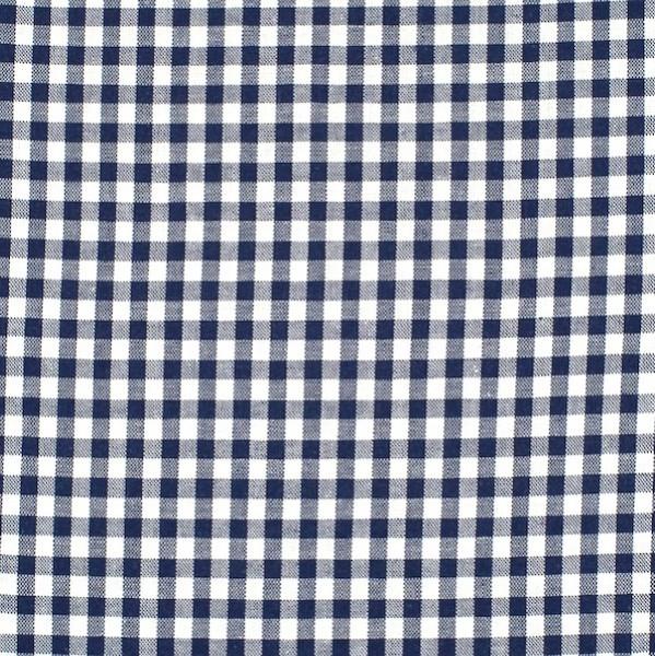 Vichykaro, mittel, dunkelblau-weiß kariert
