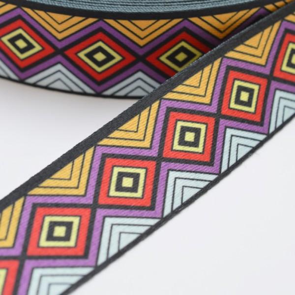 Gurtband, Inka Raute lila-rot