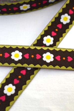 Frl. Gänseblüm, schwarz, Webband