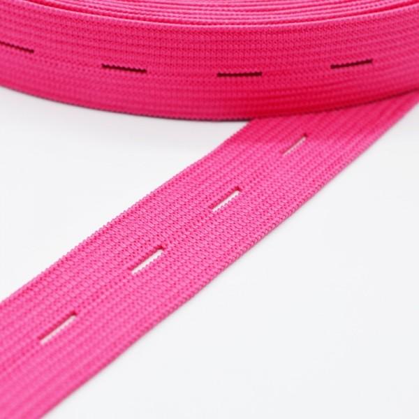 Knopflochgummi, pink